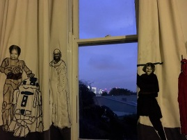 Flynn Richards 'Curtain Call: c3po-canary wharf (views from our window)'